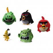 SET 5 Peluche ANGRY BIRDS 12cm Personaggi RED, CHUCK, BOMB, PIG, TERENCE Originali ROVIO Spin Master