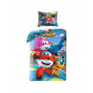 BED SET Duvet Cover SUPER WINGS 4 Main Characters Duvet Cover 140x200 COTTON