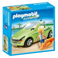 Playset CABRIOLET CAR with SURFER Surf Original PLAYMOBIL 6069 Summer Fun
