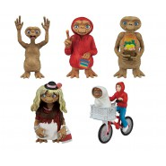 COMPLETE SET 5 Mini Figures 6cm (2,5 inches) E.T. Extra-Terrestrial Original Official