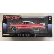 CHRISTINE DieCast Model Car 19cm PLYMOUTH 1958 FURY Red White Clear Glass GREEN WHEELS Scale 1/24 ORIGINAL Greenlight