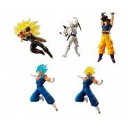 DRAGONBALL SUPER Complete Set 5 FIGURES Versus Battle Figures SERIES 08 Bandai Gashapon