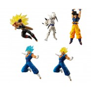 DRAGONBALL SUPER Set Completo 5 FIGURE Collezione VERSUS BATTLE FIGURES SERIES 08 Bandai Gashapon