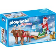 Playset Santa's Sleigh with Reindeer PLAYMOBIL 9496 CHRISTMAS