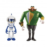 SONIC BOOM Set 2 Figure ACTION 8cm Sonic Tuta Spaziale Cattivo Universo Parallelo Originali Ufficiali TOMY The Hedgehog t22043