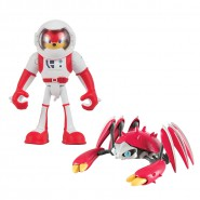 SONIC BOOM Set 2 Figure ACTION 8cm Spacesuit Knuckles & Crabmeat Originali Ufficiali TOMY The Hedgehog t22045