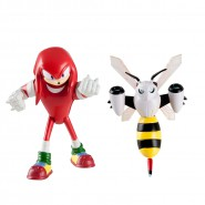 SONIC BOOM Set 2 Figure ACTION 8cm Knuckles + Beebot Originali Ufficiali TOMY The Hedgehog t22041
