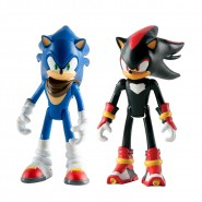 SONIC BOOM Set 2 Figure ACTION 8cm Sonic + Shadow Originali Ufficiali TOMY The Hedgehog t22040