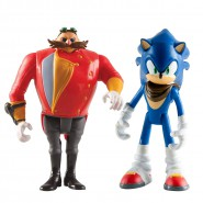 SONIC BOOM Set 2 Figure ACTION 8cm Sonic + Dr. Eggman Originali Ufficiali TOMY The Hedgehog t22042