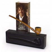 THE HOBBIT Signore Anelli PIPA DI BILBO BAGGINS Replica ORIGINALE Ufficiale NOBLE