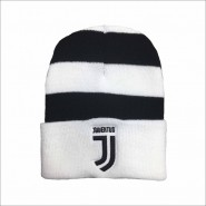 Winter HAT BLACK AND WHITE Original JUVENTUS New Logo JJ Official