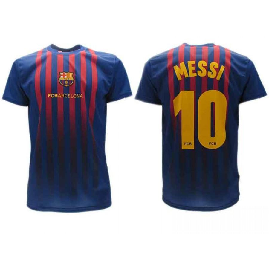 LIONEL LEO MESSI Number 10 BARCELONA FCB Jersey 2018 2019 Barca T-SHIRT  Replica ... cda014ba38d3