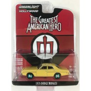 THE GREATEST AMERICAN HERO DieCast Model 1978 DODGE CAMARO Scale 1/64 ORIGINAL Greenlight Series 21 GREEN WHEELS Version