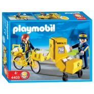 Playset Postman Bicicle Team City Original PLAYMOBIL City Life 4403