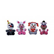 SET COMPLETO 4 Peluche FIVE NIGHTS AT FREDDY's SISTER LOCATION 25cm ORIGINALE Ufficiale