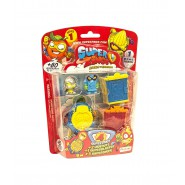 SUPERZINGS Blister HIDEOUT Box 4 random FIGURES and 2 Hideouts SERIES 1 ORIGINAL Super Zings SZ1P0600