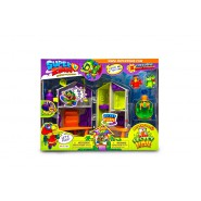 SUPERZINGS Box Playset AVVENTURA 1 Attacco Laboratorio Segreto 2 FIGURE ORIGINALE Super Zings Rivals of Kaboom