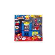 SUPERZINGS Box Playset STAZIONE POLIZIA Police Station 2 FIGURE ORIGINALE Super Zings Rivals of Kaboom