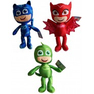 COMPLETE SET 3 Plushies 22cm Characters PJ MASKS Connor + Amaya + Greg