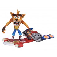 CRASH BANDICOOT Action DELUXE Figure 16cm WITH Jet Board Original NECA