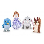 COMPLETE SET 4 Plush Plushies 15cm SOFIA THE FIRST Sofia Whatnaught Mia Clover ORIGINAL DISNEY Junior