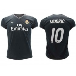 timeless design 331f0 841ef Luka MODRIC Number 10 REAL MADRID Away BLACK Jersey 2018/2019 T-SHIRT  Replica OFFICIAL Authentic