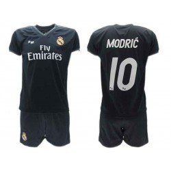 buy online a3902 c2cf3 Luka MODRIC 10 REAL MADRID Kit JERSEY + SHORTS Away BLACK 2018/2019 T-SHIRT  Replica OFFICIAL Authentic