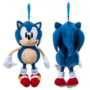 Peluche SONIC THE HEDGEHOG Riccio PORTAMONETE Blu Classic Version 20cm ORIGINALE Sega Collector's Edition