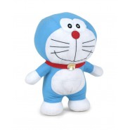 Plush DORAEMON Smiling with closed mouth 37cm Original Play By Play Cartoon Nobita