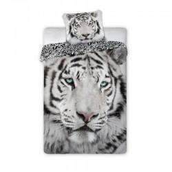 Copripiumino Natura.Set Letto Cotone Tigre Bianca Albina Natura E Animali Copripiumino