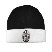 Winter HAT Beanie BLACK Original JUVENTUS Oval Logo OFFICIAL