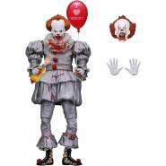 Figura Action PENNYWISE Stephen King Dal Film IT del 2017 Pagliaccio Love Derry Cuore Clown Versione ULTIMATE Originale NECA