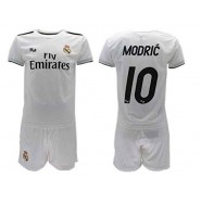 Luka MODRIC 10 REAL MADRID Kit JERSEY + SHORTS Home WHITE 2018/2019 T-SHIRT Replica OFFICIAL Authentic