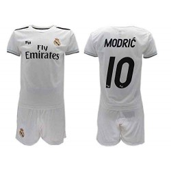 quality design 05e32 b1f95 Luka MODRIC 10 REAL MADRID Kit JERSEY + SHORTS Home WHITE 2018/2019 T-SHIRT  Replica OFFICIAL Authentic