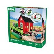 Playset LEGNO Brio 33790 Set Ferrovia di Campagna con Cavallo