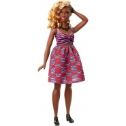 BARBIE DVX79 Fashionistas Zig and Zag Curvy Doll TRIBAL patter dress