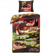 Set Letto MIRACULOUS HEROEZ Eroi Reversibile 140x200 Federa 70x90 Originale COTONE Ladybug
