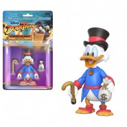 Action Figure Collectible Posable Statue SCROOGE MCDUCK 10cm Blister Dollars Original Official DISNEY Duck Tales Funko