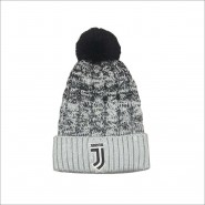 HAT Beanie Pon Pon MELANGE with FLEECE inside Original JUVENTUS New Logo JJ Official