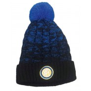 HAT Beanie Pon Pon MELANGE with FLEECE inside Original INTER INTERNAZIONALE Official