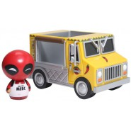Figure and Vehicle DEADPOOL with CHIMICHANGA TRUCK 14cm Original FUNKO Dorbz Ridez
