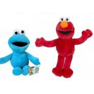 SET 2 Peluche 20cm SESAME STREET Elmo Cookie Mostro ORIGINALI Ufficiali Muppets