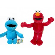 SET 2 Plush Plushies 20cm SESAME STREET Elmo Cookie Monster ORIGINAL Muppets