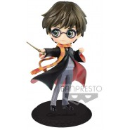 Figure Statue 14cm HARRY POTTER Dark Blue Jacket QPOSKET Hogwarts Magic Spell Wand Banpresto Version B