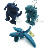 COMPLETE SET 3 Plushies GODZILLA 15cm Blue Green Servum Flying Originale SEGA THE PLANET EATER with HOOK