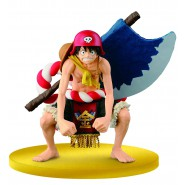 ONE PIECE Figure Statue LUFFY CHAMPION 2015 Movie GOLD Banpresto