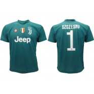SZCZESNY Goalkeeper Number 1 JUVENTUS 2018/2019 T-Shirt Soccer Jersey Official Replica