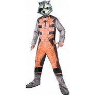 COSTUME Carnival  ROCKET RACCOON Baby Size LARGE 8/10 Years Rubie's Guardians Galaxy