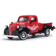 COCA COLA Modello DieCast Camion PLYMOUTH PICKUP 1941 Scala 1/24 Originale Motor City