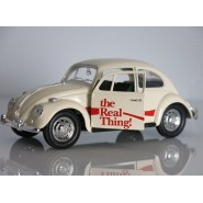 COCA COLA Modello DieCast Maggiolone VOLKSWAGEN BEETLE Beige THE REAL THING Scala 1/24 ORIGINALE Motor City